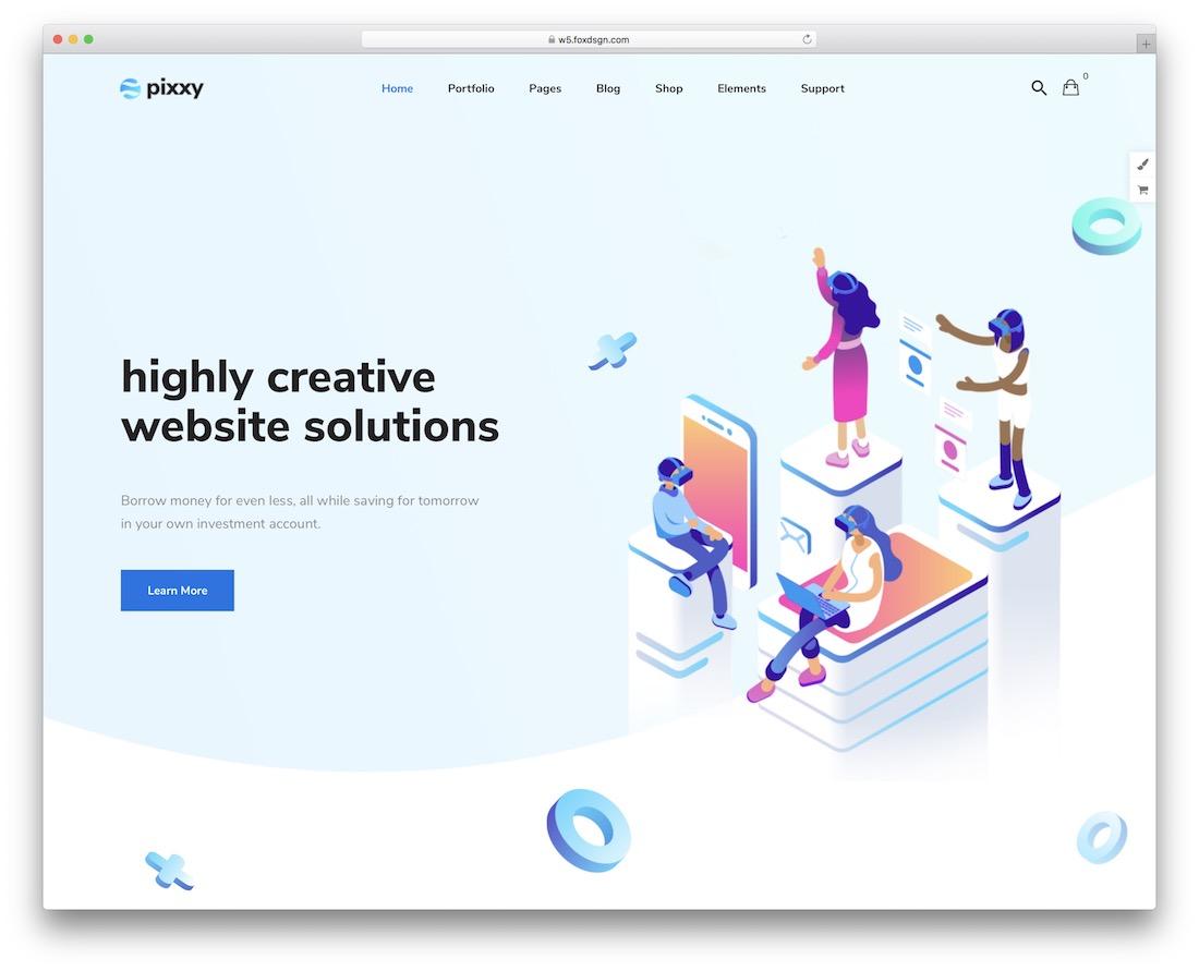 pixxy wordpress material design theme