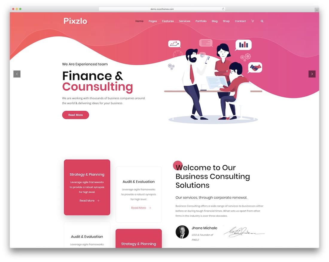pixzlo marketing wordpress theme