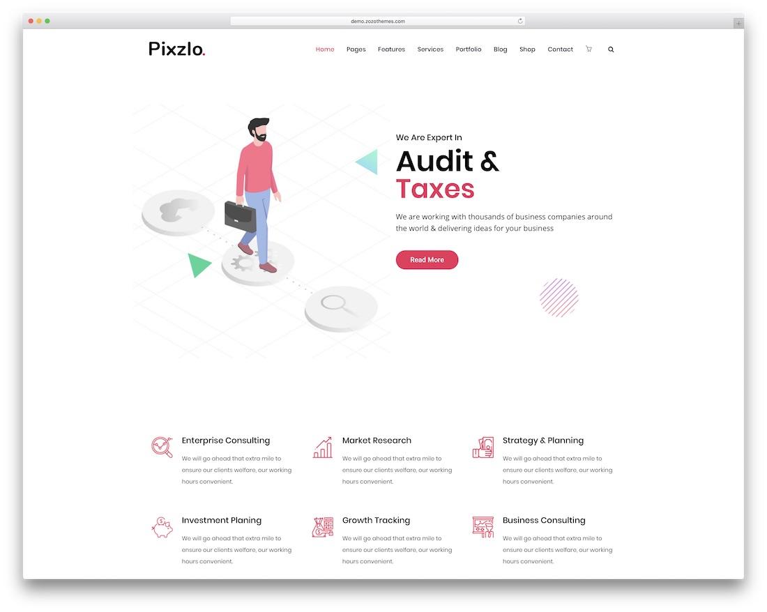 pixzlo professional wordpress theme