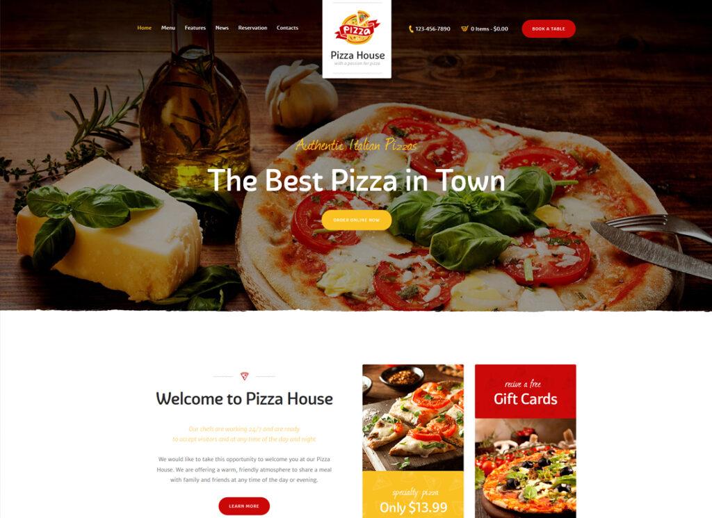 Pizza House   Restaurant / Cafe / Bistro WordPress Theme