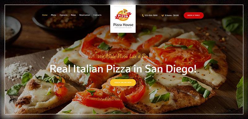 Pizza House - Restaurant / Cafe / Bistro Theme