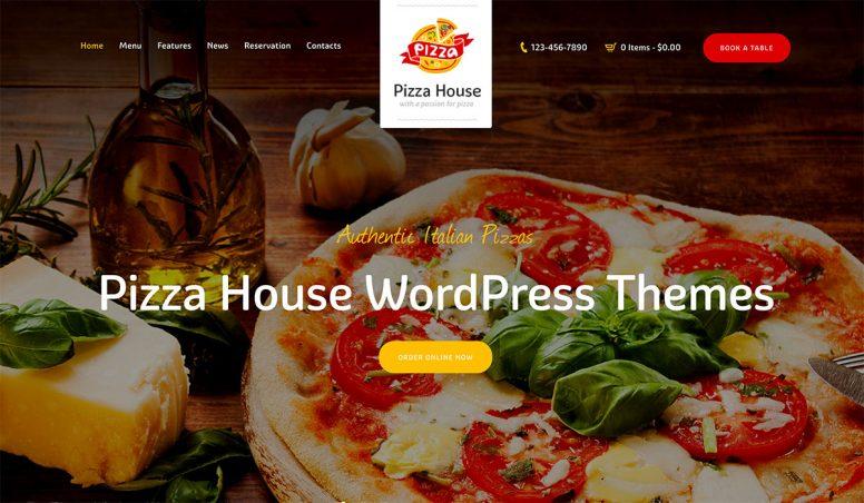 16 Premium Pizza House WordPress Themes 2018