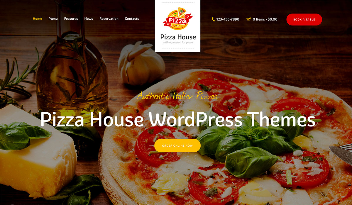 18 Premium Pizza House WordPress Themes 2020