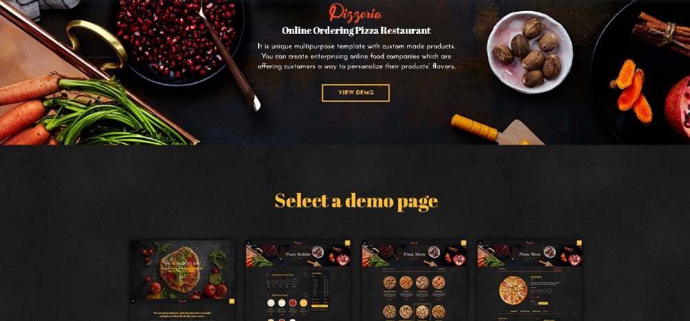 Pizzeria website theme