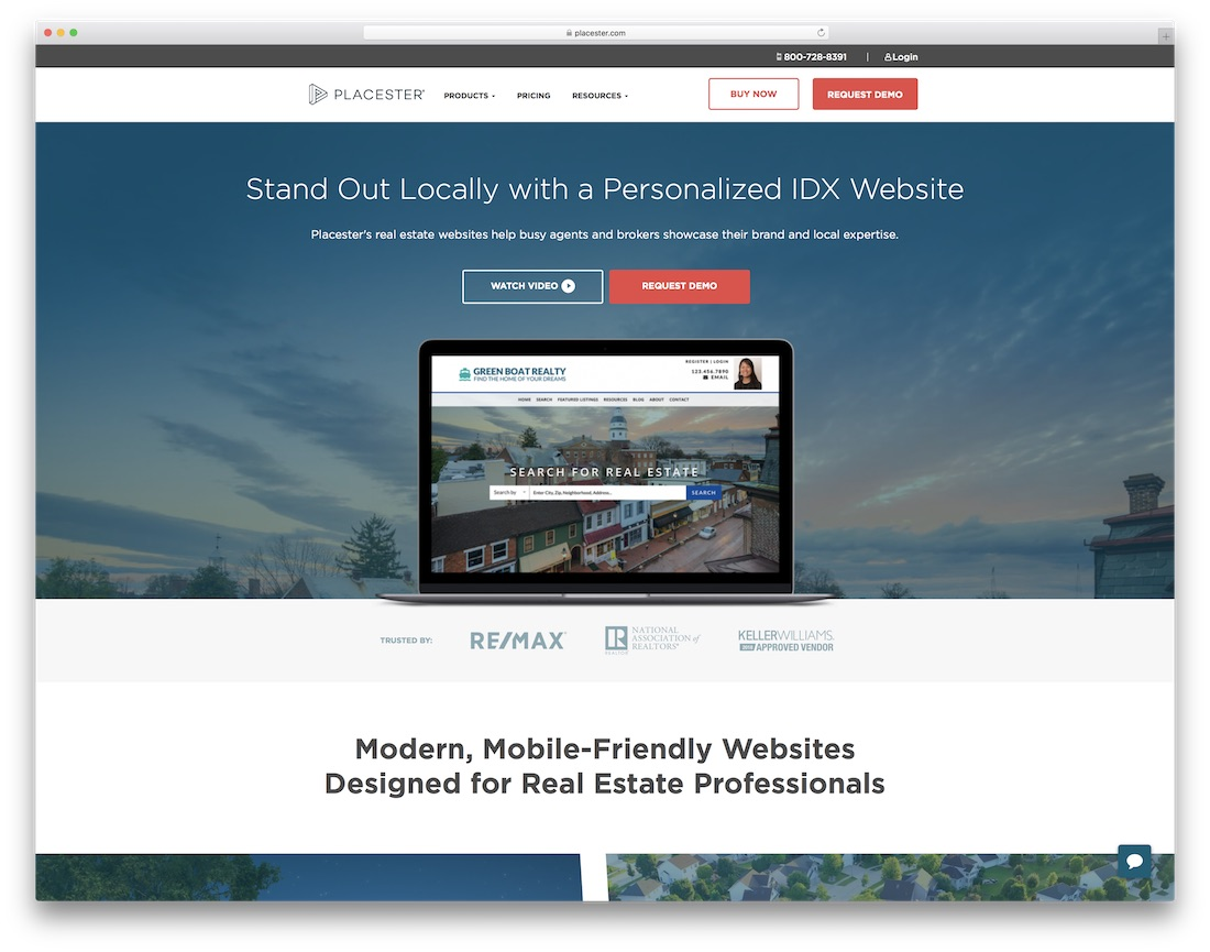 placester real estate agent website builder