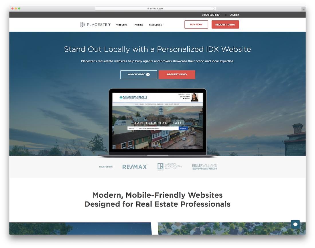 placester real estate agent website builder
