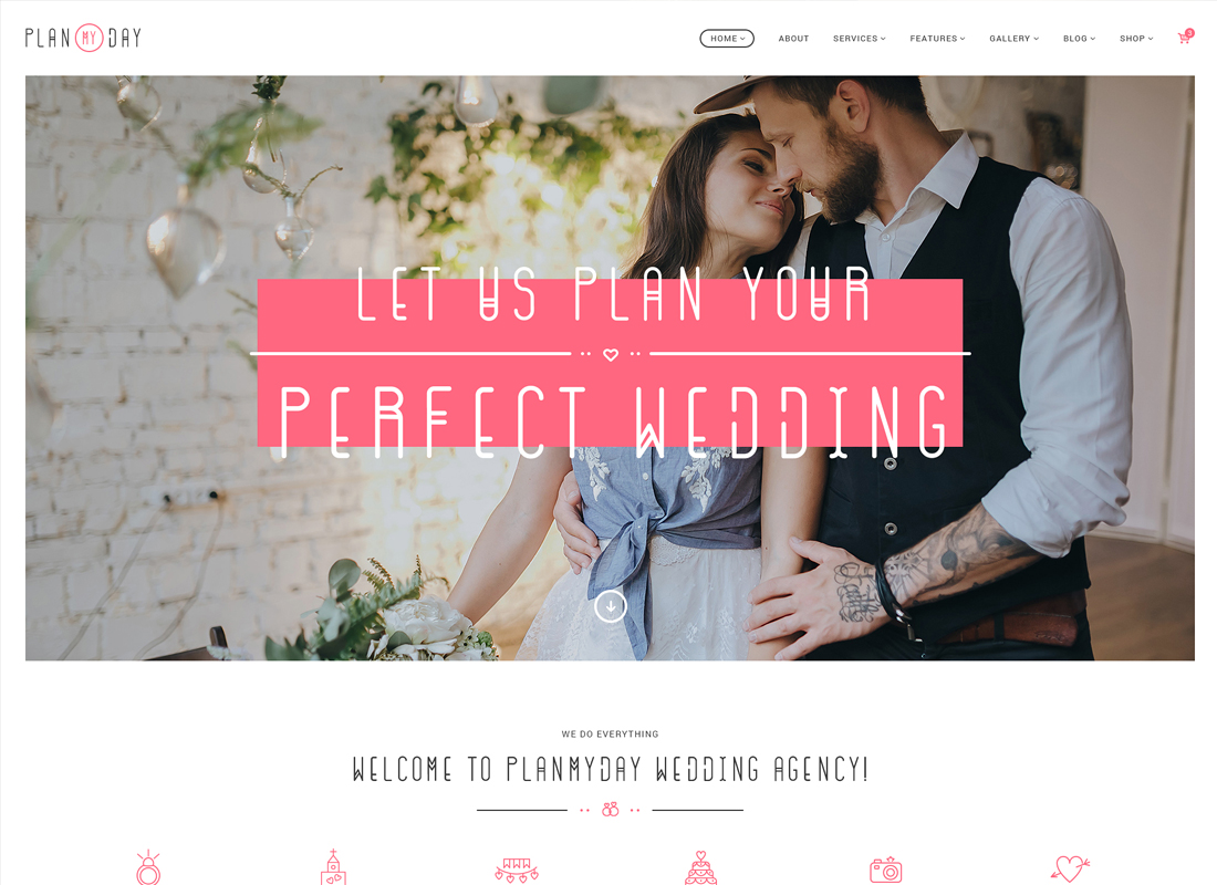 Plan My Day | Wedding / Event Planning Agency WordPress Theme