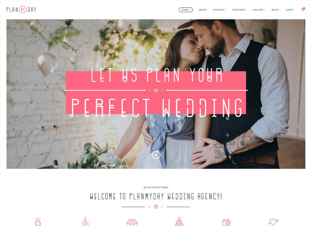 Plan My Day | Wedding / Event Planning Agency WordPress Theme