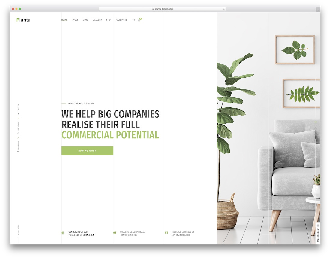 planta business corporate blog theme