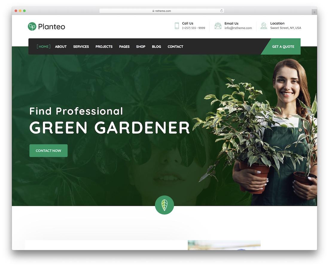 planteo gardening landscaping wordpress theme