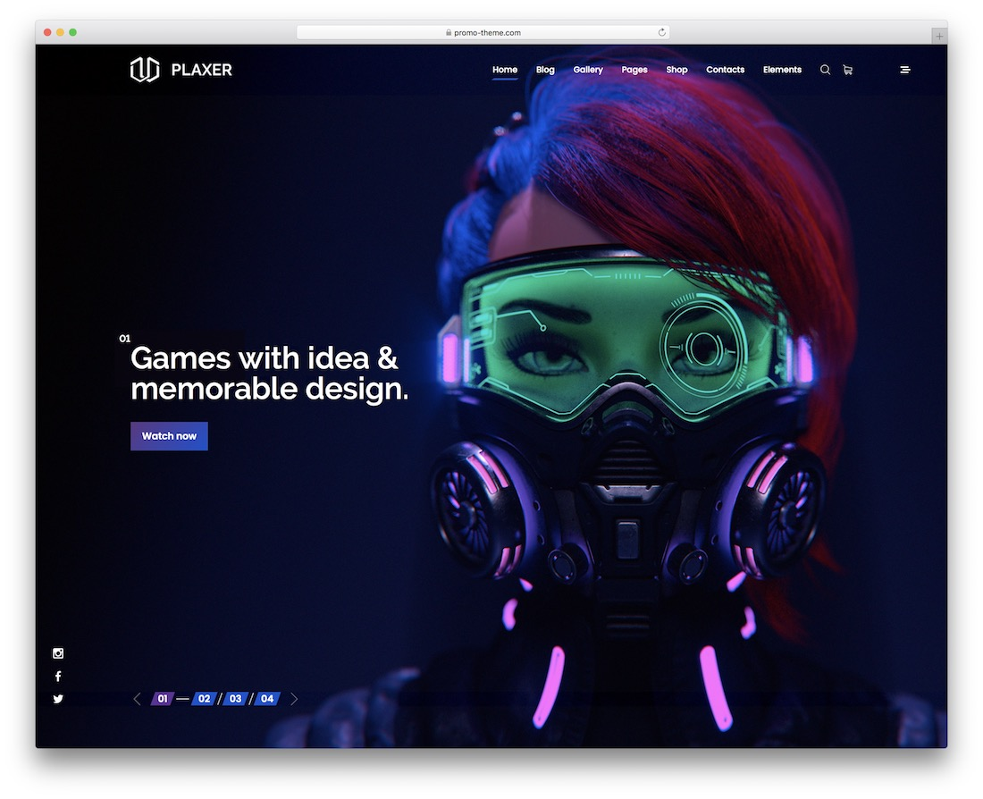 plaxer esports website template