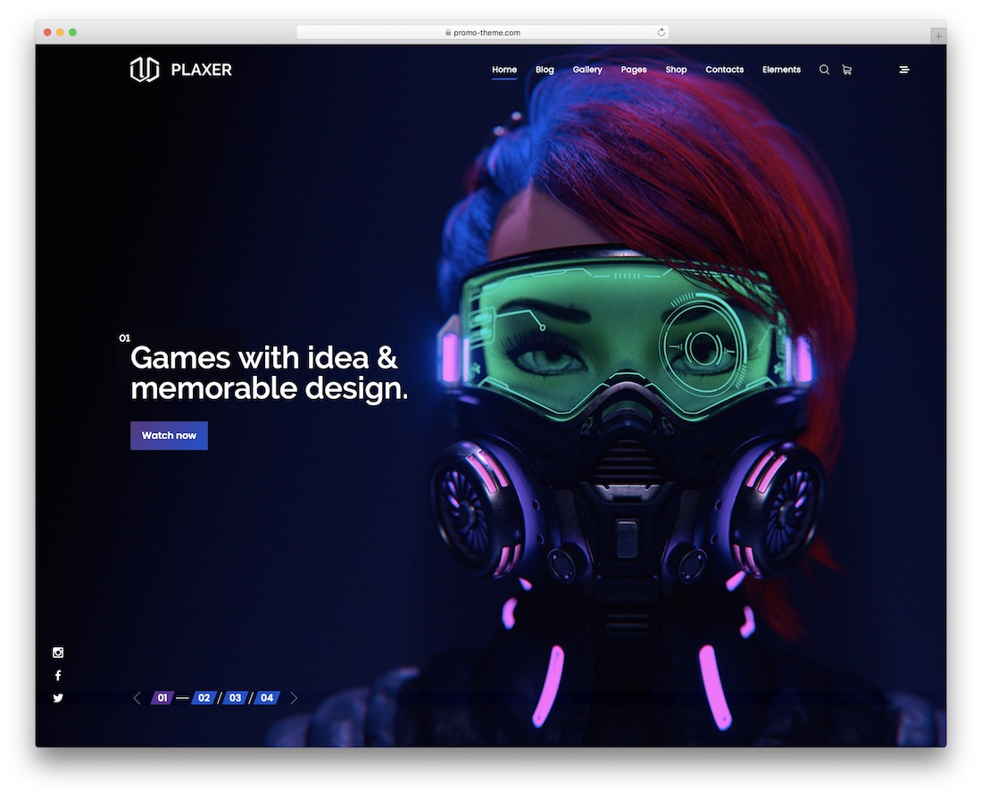 plaxer gaming website template