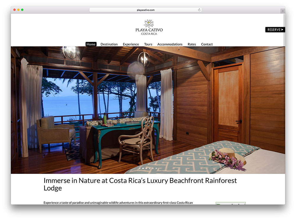 playacativo-lodge-rental-site-using-divi-theme
