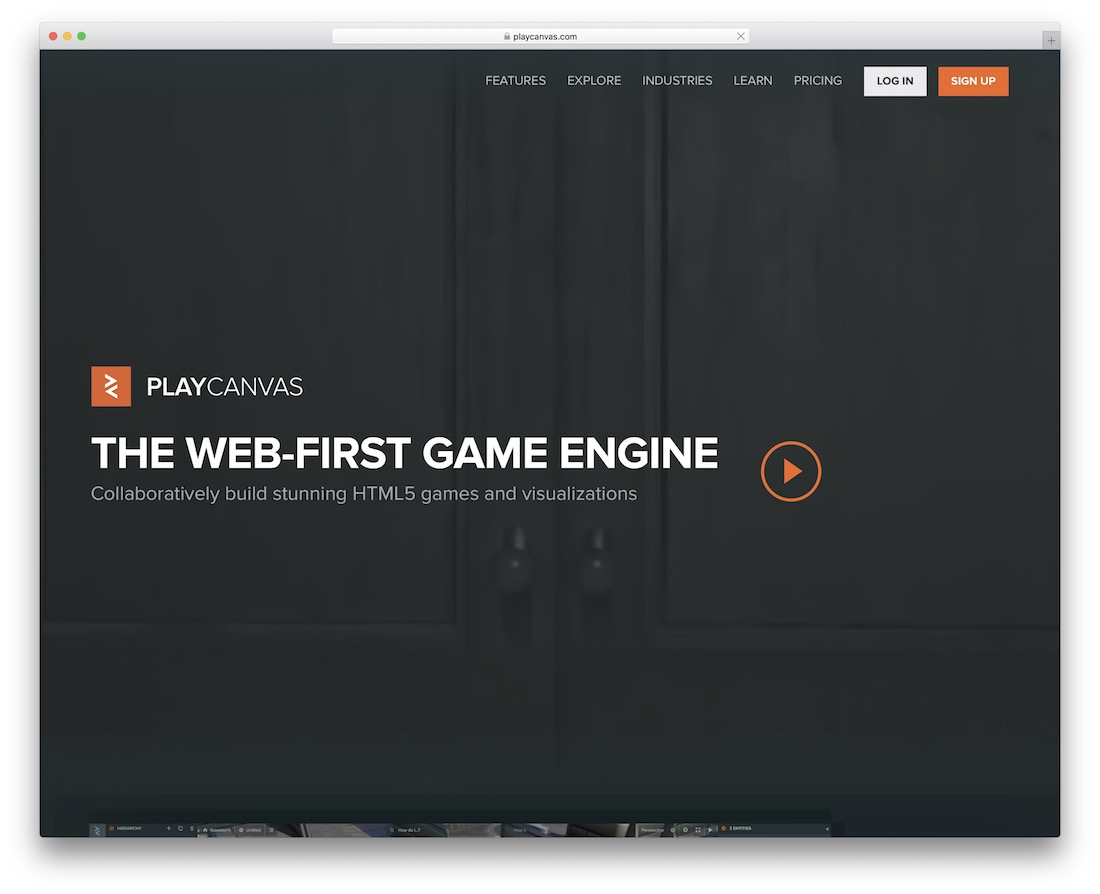 playcanvas javascript engine for building games