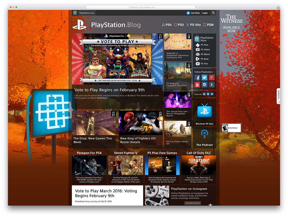 playstation-gaming-blog-using-wordpress