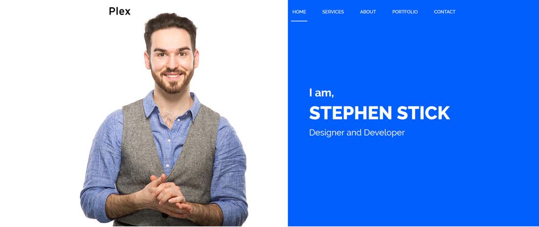 plex-bootstrap-personal-website-templates