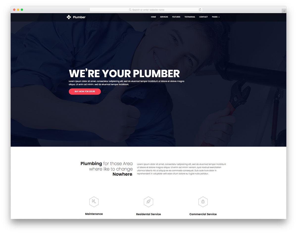 Plumber Free Plumbing Website Template Colorlib