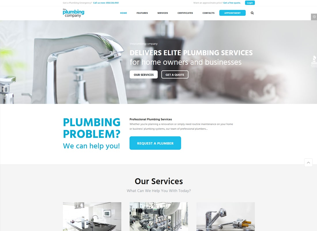 Plumbing - Repair, Building & Construction Template