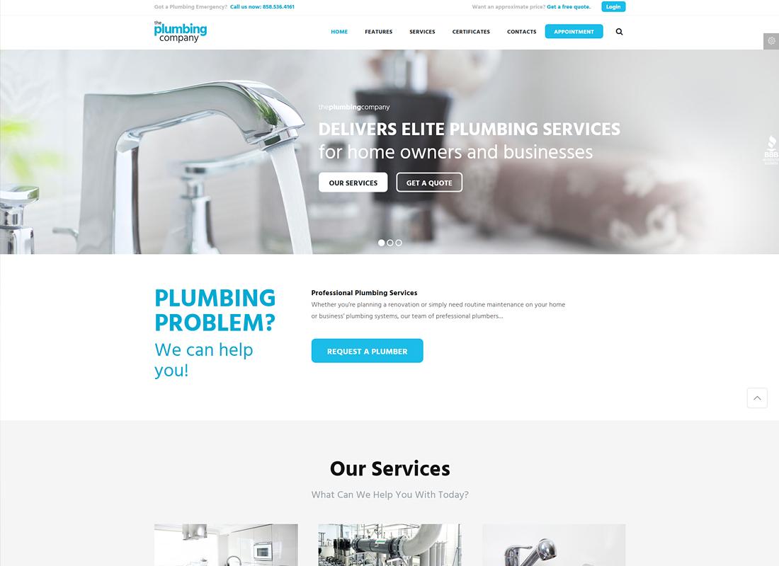 Plumbing - Repair, Building & Construction WordPress Theme