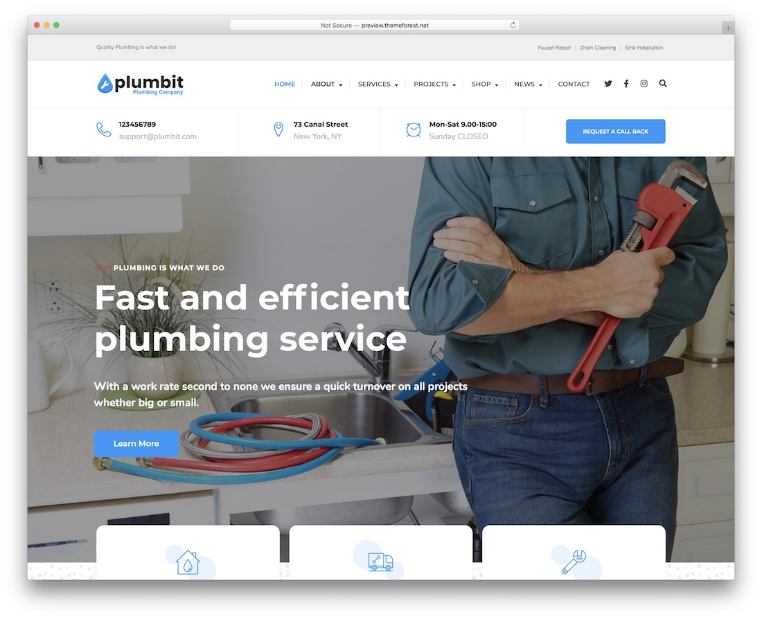 plumbit plumber wordpress theme