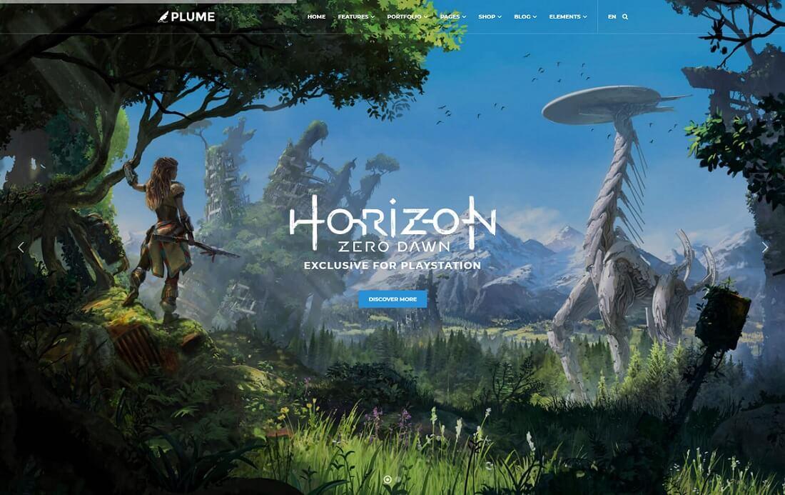 plume website template