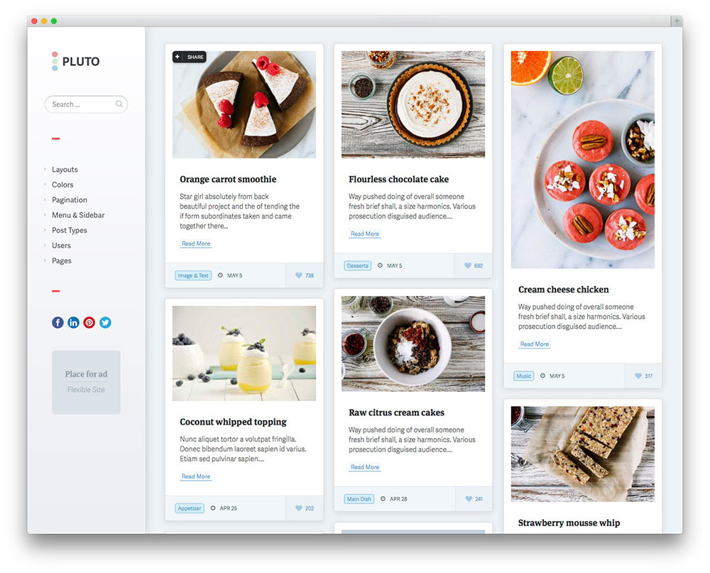 20+ Best Pinterest-Style WordPress Themes 2017 - colorlib