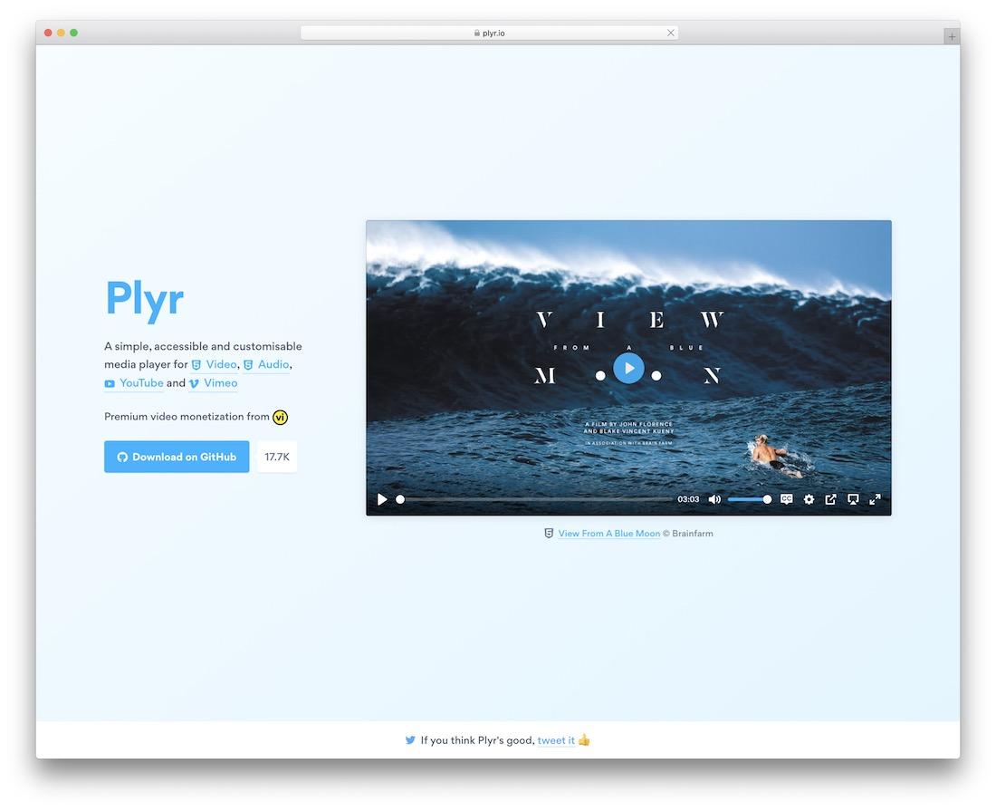 plyr jquery plugin