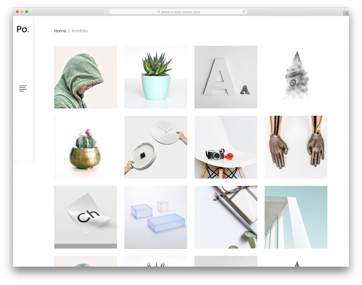 Po Gallery Template | 32 Free Photography Website Templates For Photographers 2018 Colorlib
