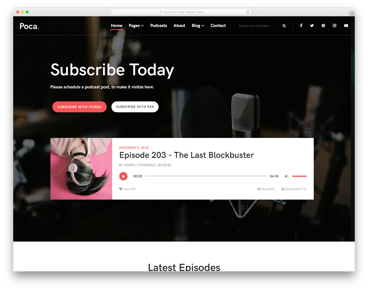 21 Best Mobile-Friendly Free Music Website Templates 2019