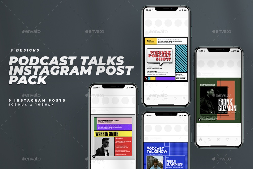 podcast talks show cover social media banners