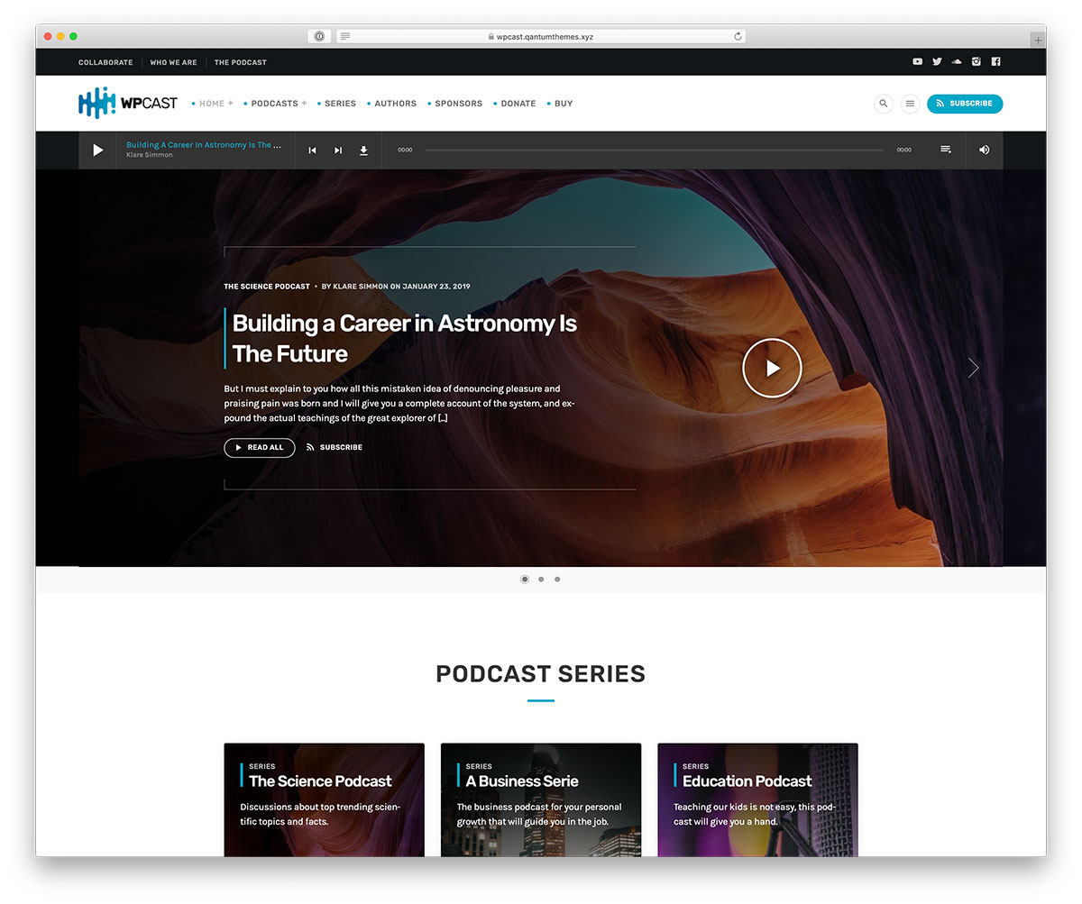 15 Most Functional WordPress Podcasting Themes 2019