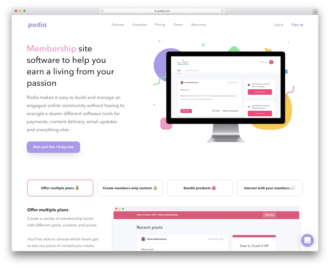 podia membership website builder