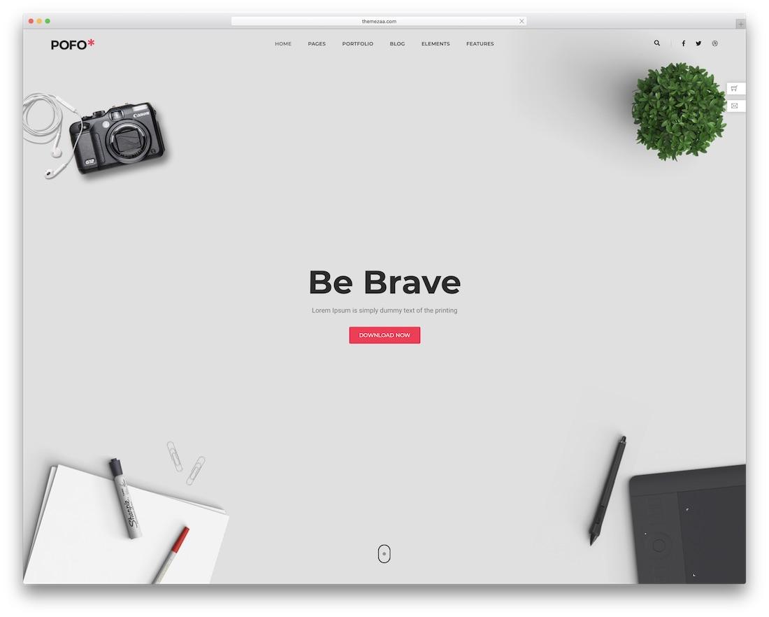 pofo beautiful website template