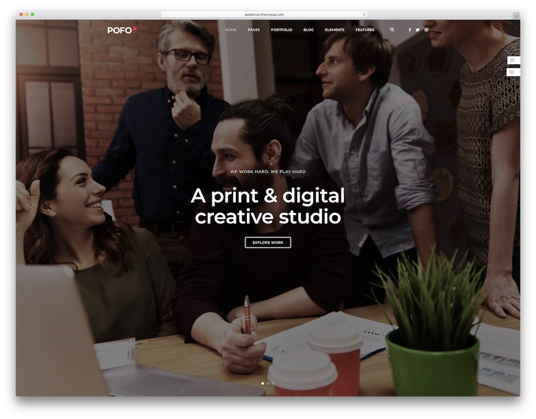pofo corporate blog theme