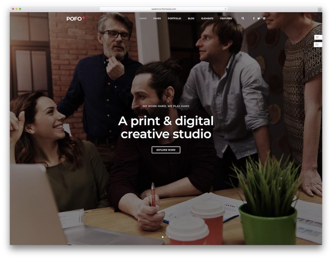 pofo corporate blog theme