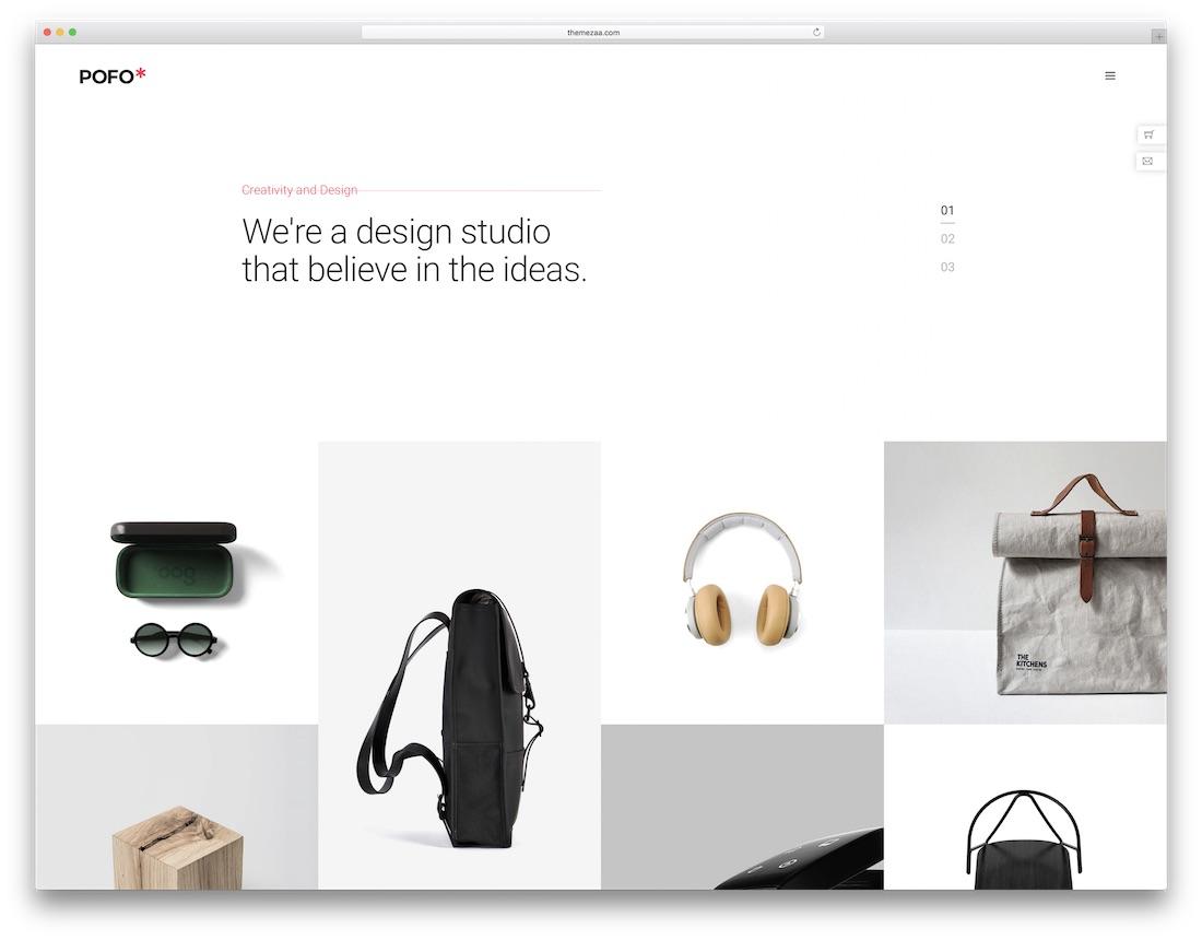 pofo freelancer website template