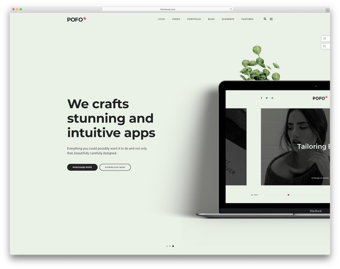 pofo interactive website template