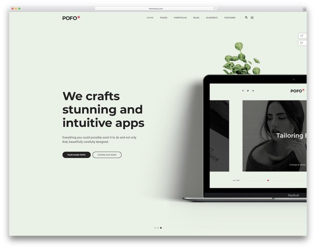 pofo interactive website template
