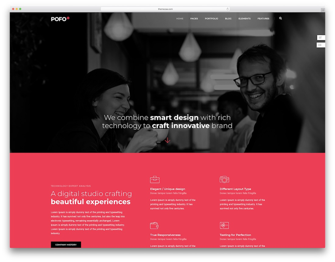 pofo seo friendly website template