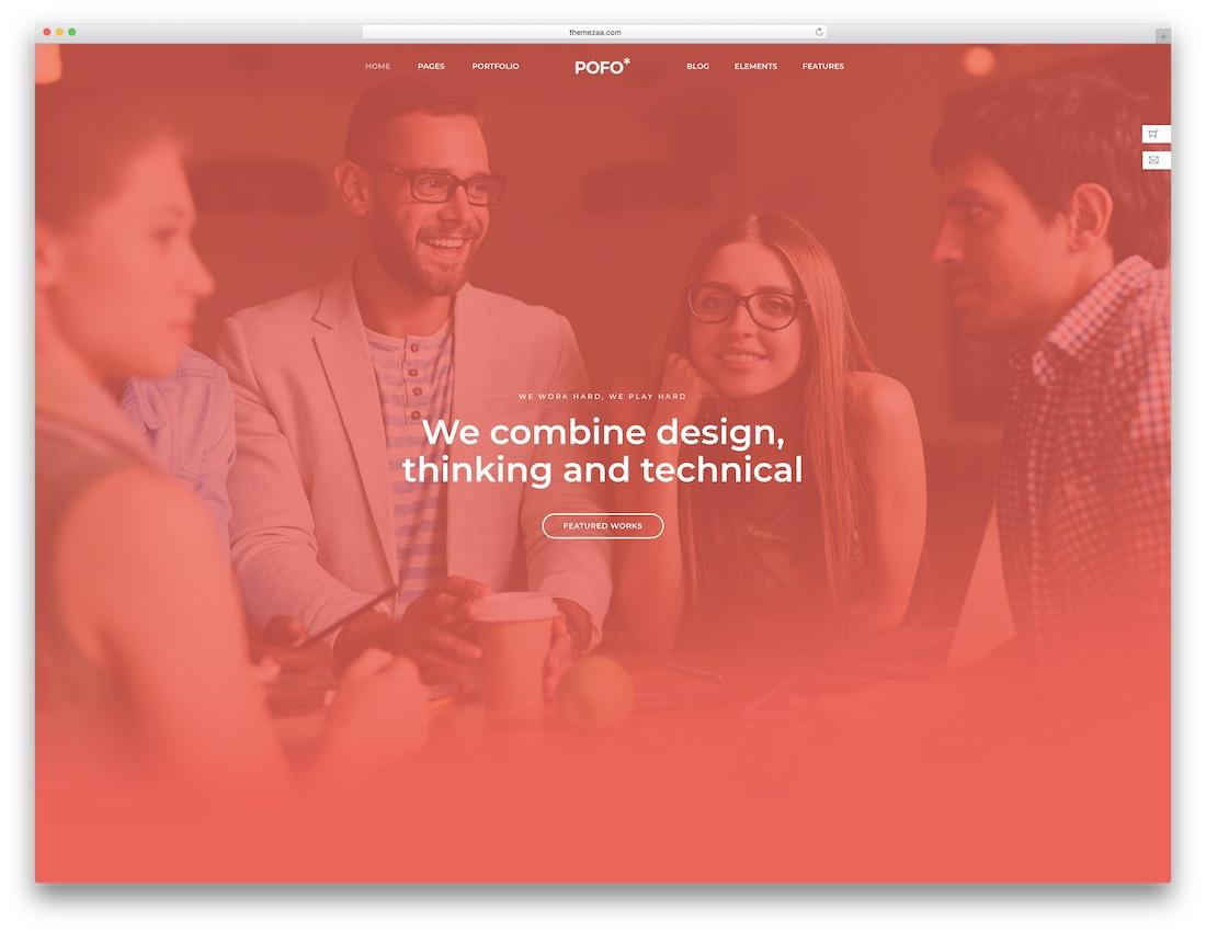 pofo fullscreen website template
