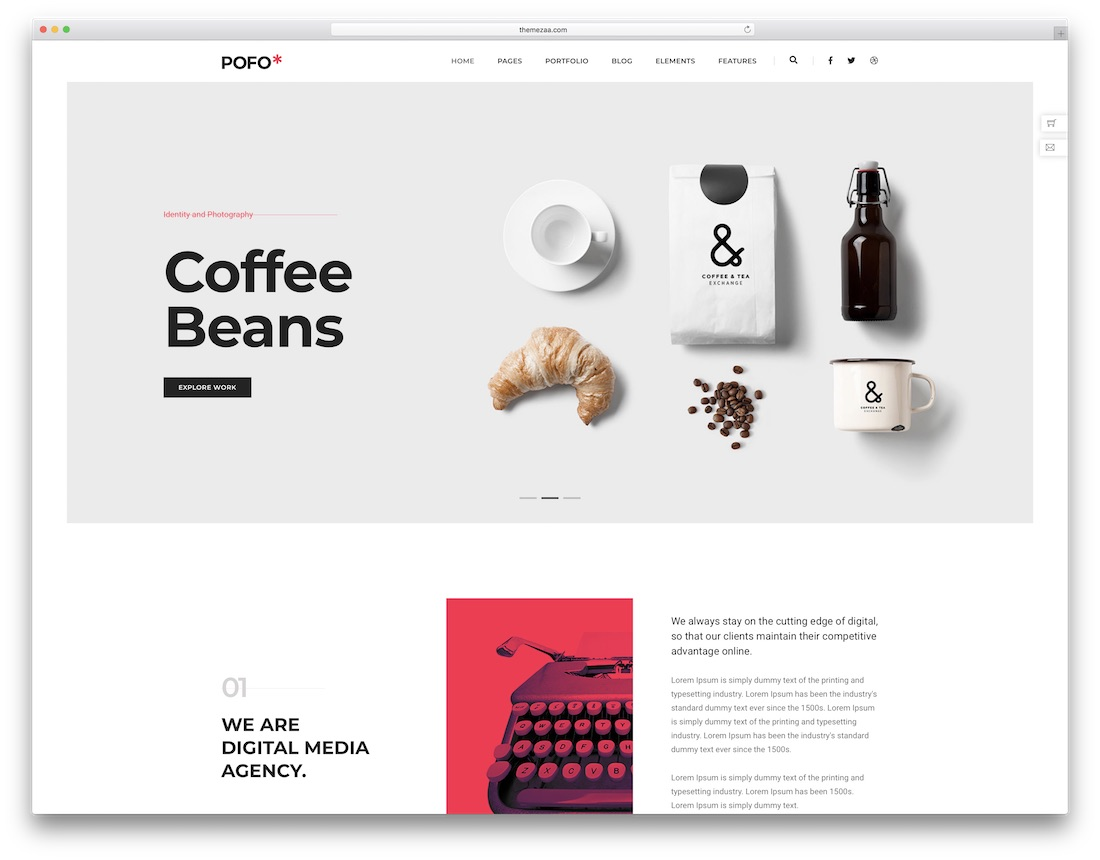 pofo graphic design website template