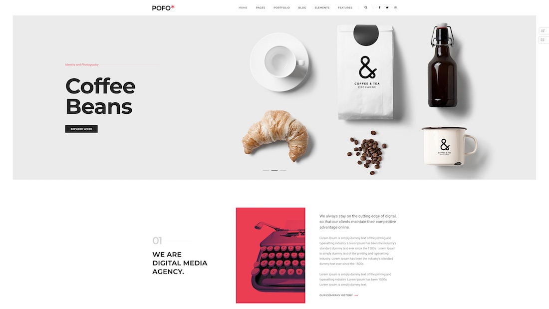 pofo professional website template