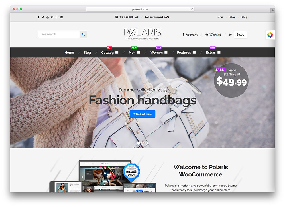 polaris fashion woocommerce theme