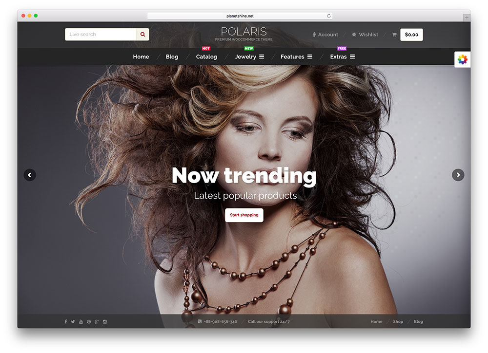 polaris jewelry wordpress theme