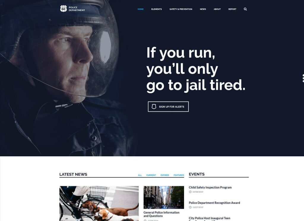 Police & Fire DC | Police & Fire Department and Security Business WordPress Theme
