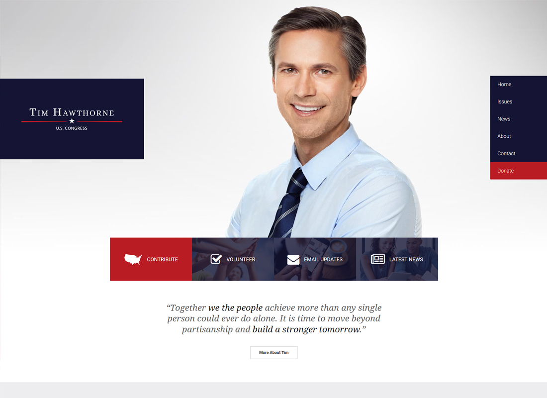 FrontRunner | Political WordPress Theme