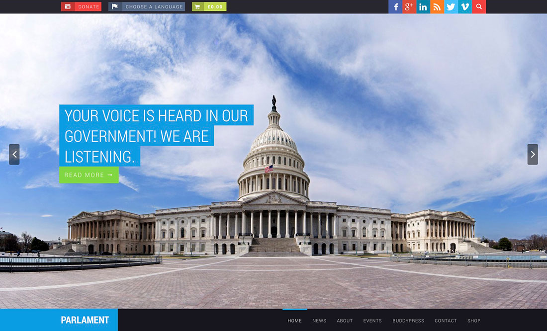 Best Political Wordpress Themes For Politicians 2017 - Colorlib