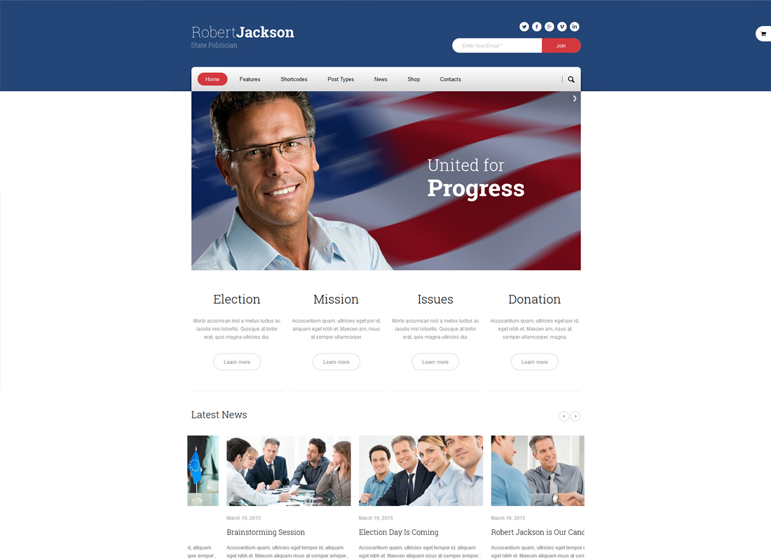 Politics | Election Campaign Political WordPress Theme