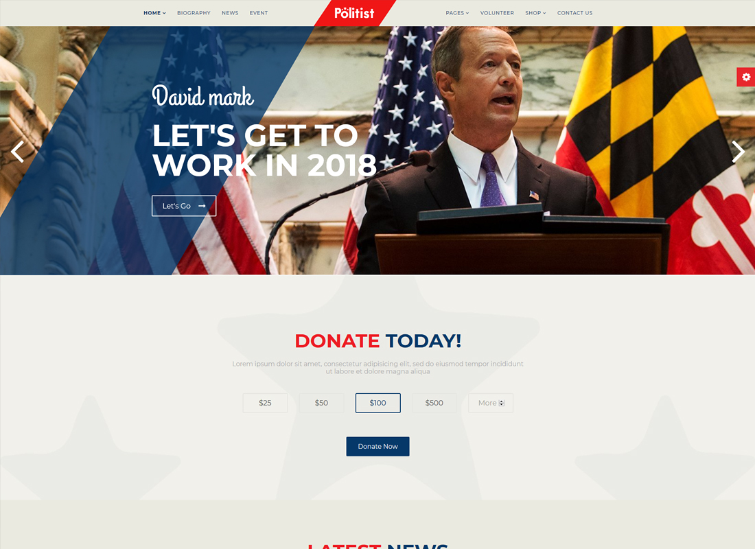 Politist | Political Candidate WordPress Theme