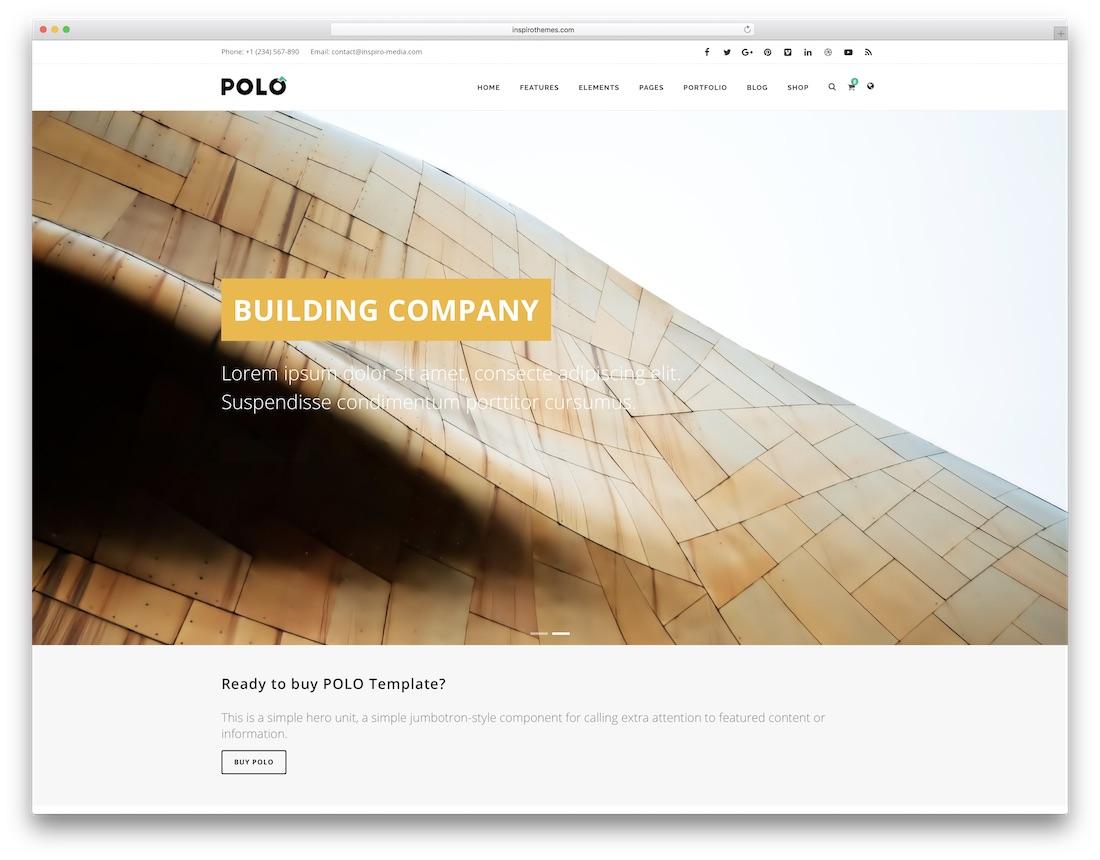 polo HTML construction company template